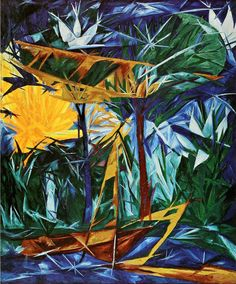 Natalia Goncharova (Russia, 1881 - 1962) Yellow and Green Forest, 1913