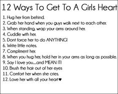 12 Ways To Get To A Girls Heart