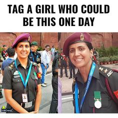 Tag them  #indianarmy Girly Attitude Quotes, Girly Quotes, Army Wife Quotes, National Cadet Corps, Emma Stone Outfit, Indian Army Wallpapers, Indian Army Quotes, Indian Navy, Indian Air Force