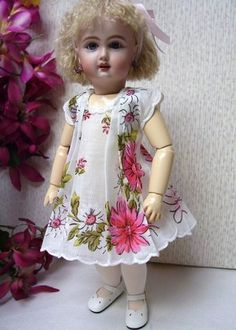 "Bleuette ""Pink Daisy"" Scalloped Hanky Dress   eBay"