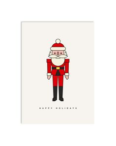 #0126 happy claus, Postkarte DIN A6, www.redfries.com