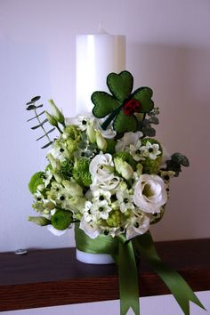 Flowers of Soul: Lumanari de botez Diy Flowers, Wedding Flowers, Flower Diy, Baptism Candle, Vase, Candles, Plants, Christ, Weddings