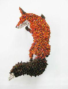 Top 16 des sculptures en Pixel art par Shawn Smith, le sculpteur qui envoie littéralement du bois