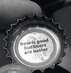 Why yes beer cap that is a very good point - funny, beer. Beer Puns, Beer Memes, Beer Quotes, Beer Humor, Funny Quotes, Food Quotes, Quotable Quotes, Satire, National Beer Day