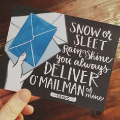 O' Mailman of mine | free printable card for your mailman - one canoe two