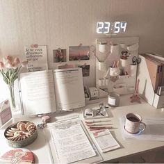 korean desk study stationery aesthetic seoul beige coffee cream milk tea ideas wooden light soft minimalistic 문방구 아파트 공부방 책상 アパート 勉強部屋 スタディデスク aesthetic home interior apartment japanese kawaii g e o r g i a n a : f u t u r e h o m e Study Room Decor, Cute Room Decor, Study Rooms, Study Space, Study Areas, Desk Space, Work Desk Decor, Uni Room, Dorm Room
