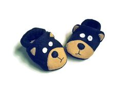 Check out this item in my Etsy shop https://www.etsy.com/listing/237295520/baby-black-bear-booties-soft-sole-baby