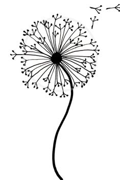 Easy how to draw a dandelion tutorial with our step by step dandelion drawing. This dandelion doodle is perfect for art journals, bullet journals and more. Art How to draw a dandelion: Easy dandelion drawing step by step tutorial Easy Doodles Drawings, Easy Doodle Art, Cute Easy Drawings, Mini Drawings, Pencil Art Drawings, Cool Art Drawings, Art Drawings Sketches, Easy Art, Drawing Drawing