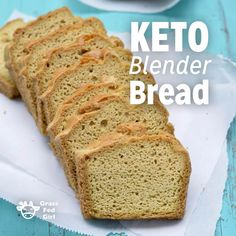 Easy Low Carb Keto Blender Bread Recipe - Düşük karbonhidrat yemekleri - Las recetas más prácticas y fáciles Keto Foods, Ketogenic Recipes, Low Carb Recipes, Bread Recipes, Cooking Recipes, Ketogenic Diet, Cooking Stuff, Ketosis Diet, Dukan Diet