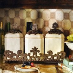 Amazon.com: Ceramic Canister Set: Home U0026 Kitchen
