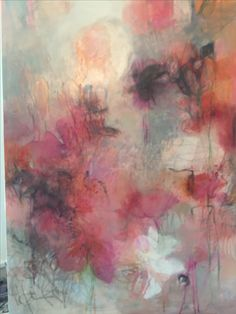 """Azalea I""   30"" x 48"" Acrylic & mixed media on canvas"