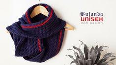 Bufanda unisex con patrón | Aprender manualidades es facilisimo.com