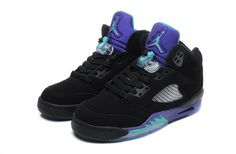 Men And Women Air Jordan Aj5 Jordan retro 5 Basketball Shoes Lovers A  Flightposite Black Purple Grape