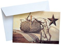 Berry Basket Note Card Most Popular Artists, Berry Baskets, Note Cards, Primitive, Berries, Framed Prints, Country, Holiday, Gifts