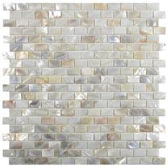 Show cream brick pearl shell tile: Found at https://www.subwaytileoutlet.com/