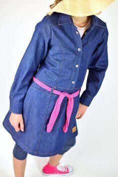 Schnittmuster / Ebook lillesol stars No.15 Jeanskleid / Nähen Kleid / Sewing pattern Jeans dress