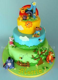 Magnifique gâteau Winnie l'ourson