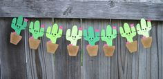 Cactus Banner * Cactus Bunting * Cactus Sign * by RhythmicallyYours on Etsy