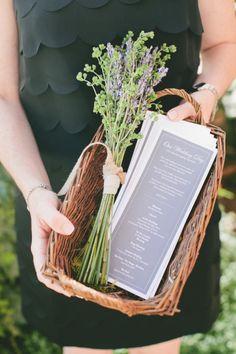 Wedding program: http://www.stylemepretty.com/little-black-book-blog/2015/01/12/rustic-european-elegance-in-sonoma/ | Photography: Onelove - http://www.onelove-photo.com/