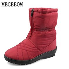 Low Cost $18.34, Buy Plus Size Waterproof Flexible Woman Boots High Quality Warm Fur Inside Snow Boots Winter Shoes Woman calzado mujer 1508W