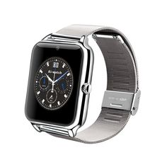 Bestseller2888 New fashion Bluetooth Smart Watch Cell Phone GSM NFC Pedometer Fitness Tracker 430mAh Z50 with heart rate SIM card TF mp3 mp4 compatible with Iphone and Android Phones SILVER. Dialer / Bluetooth phone call (Bluetooth v3.0): Unlike most smart watches, besides bluetooth sync call, the Z50 smart watch can independently make / receive phone calls with its own SIM card. Bluetooth pairing or through NFC for business card exchange, information exchange; Phonebook / call log…