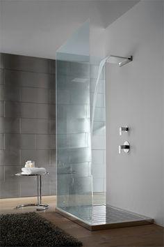 Shower column with overhead shower AQUA SENSE by Graff Europe West #bathroom #minimal #wellness