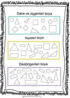 Kindergarten Math Worksheets, Homework, Homeschool, Shapes, How To Plan, Geometric Fashion, Studio, Homeschooling