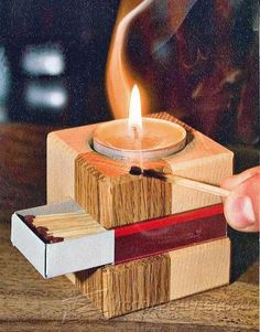 Making simple wooden candlestick - woodworking plans and projects… simple woodworking ideas, easy woodworking Wooden Crafts, Diy Wood Projects, Teds Woodworking, Woodworking Crafts, Woodworking Videos, Woodworking Joints, Learn Woodworking, Woodworking Workshop, Diy Holz