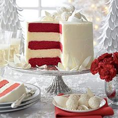 This will be my son's birthday cake this year he loves red velvet cake and we all love cheesecake. I made it for Christmas and man is it decadent.