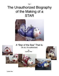 Star of the Sea Fish Sculptural Bead Tutorial by by Glassactcc, $26.00