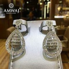 Diamond earrings from Amwaj.