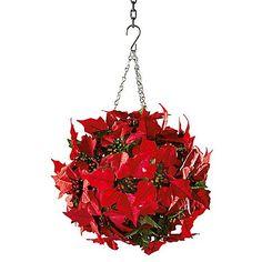 Poinsettia Hanging Ball