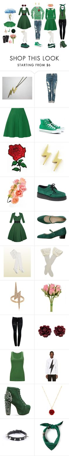 """Sailor Jupiter / Makoto Kino (Sailor Moon)"" by queenstormrider ❤ liked on Polyvore featuring H&M, Frame Denim, Issa, Converse, Dogeared, Forever 21, Underground, Hell Bunny, American Apparel and Gucci"
