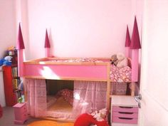 IKEA Kura Bed Turned Princess Castle — A Creative Anna | Apartment Therapy