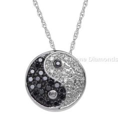 This is natural black and white diamonds yin yang necklace pendant in 14k white gold 1.50 carat weight with  AAA quality natural black diamond comes in 14k white gold. Centred with beautiful natural black and white diamond and crafted with 14k white gold.