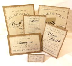 Rustic Wedding Signs - Burlap Fabric Wedding Sign Package via Poshest Papers on Etsy! ELEGANT AND SOPHISTICATED!