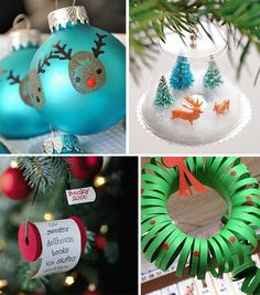 easy christmas craft ideas for kids...doing the thumbprint reindeer ornaments this year!