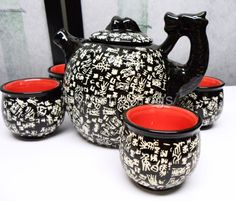 Japanese Chinese Oriental Asian Ceramic Hot Tea Pot Mug Cup Gift Box Set NEW #C in Collectibles, Collectibles | eBay