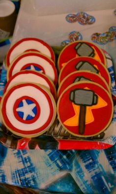 Marvels birthday cookies my sister made