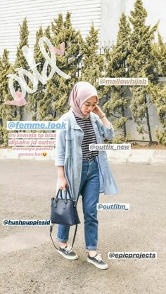 Discover recipes, home ideas, style inspiration and other ideas to try. Modern Hijab Fashion, Street Hijab Fashion, Hijab Fashion Inspiration, Workwear Fashion, Muslim Fashion, Women's Fashion, Hijab Casual, Ootd Hijab, Hijab Chic