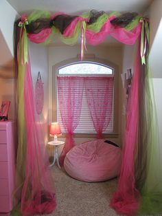 such an awesome idea!!!! Except get white tulle or something for our EFY dorms :)