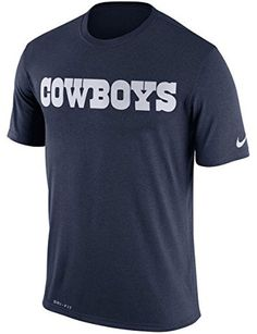5b1bef55e Dallas Cowboys Nike Dri Fit Legend Essentials Wordmark 3 Performance T Shirt   32.95 Dallas Cowboys Shirts