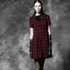 this dress is so fashionable http://www.jollychic.com/p/new-punk-style-red-plaid-dress-g8802.html?a_aid=mariemvs