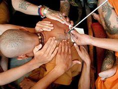 moine bouddhistes thailande