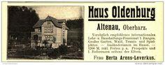 Original-Werbung / Anzeige 1907 - HAUS OLDENBURG ALTENAU OBERHARZ - ca. 115  x 45 mm