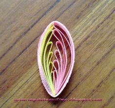 A Journey into Quilling & Paper Crafting: New Quilling Technique Tutorial - Comb Quilled Two Tone Leaf / Petal