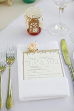 A Jar of Jelly & a Thank You! On SMP:  http://www.StyleMePretty.com/2013/07/03/villa-san-juan-capistrano-wedding-from-lane-dittoe-fine-art-wedding-photographs/ Photography - Lane Dittoe