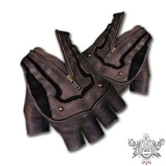 I've always loved these. Totally impractical. Steam Trunk Leather Mojo Moto Riding Gloves