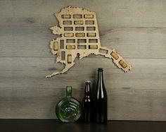 Wine Cork Traps State of Maryland Wood Wine Cork Organizer Wall Decoration