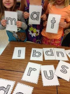 A team building phonics activity - free letter download (Rulin' The Roost)                                                                                                                                                                                 More